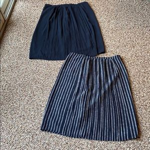 Joe Fresh Set of Two Pleated Midi Skirts Sz 6
